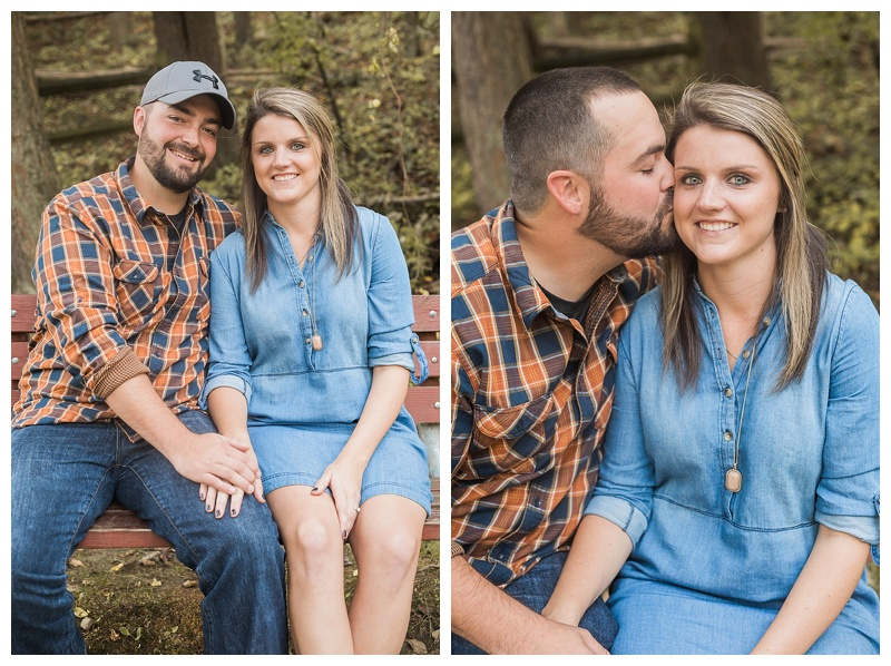 Kristen & Robbie | Fall Engagement Session | Patapsco State Park