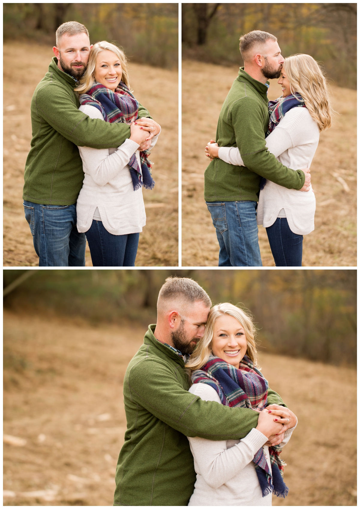 Fall Lake Hashawa engagement session.