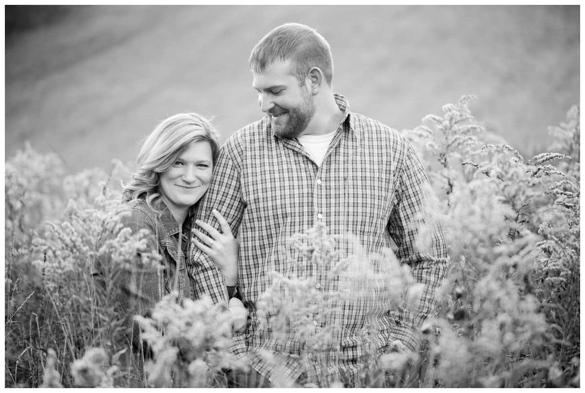 Fall Lake Hashawa engagement session. In a field