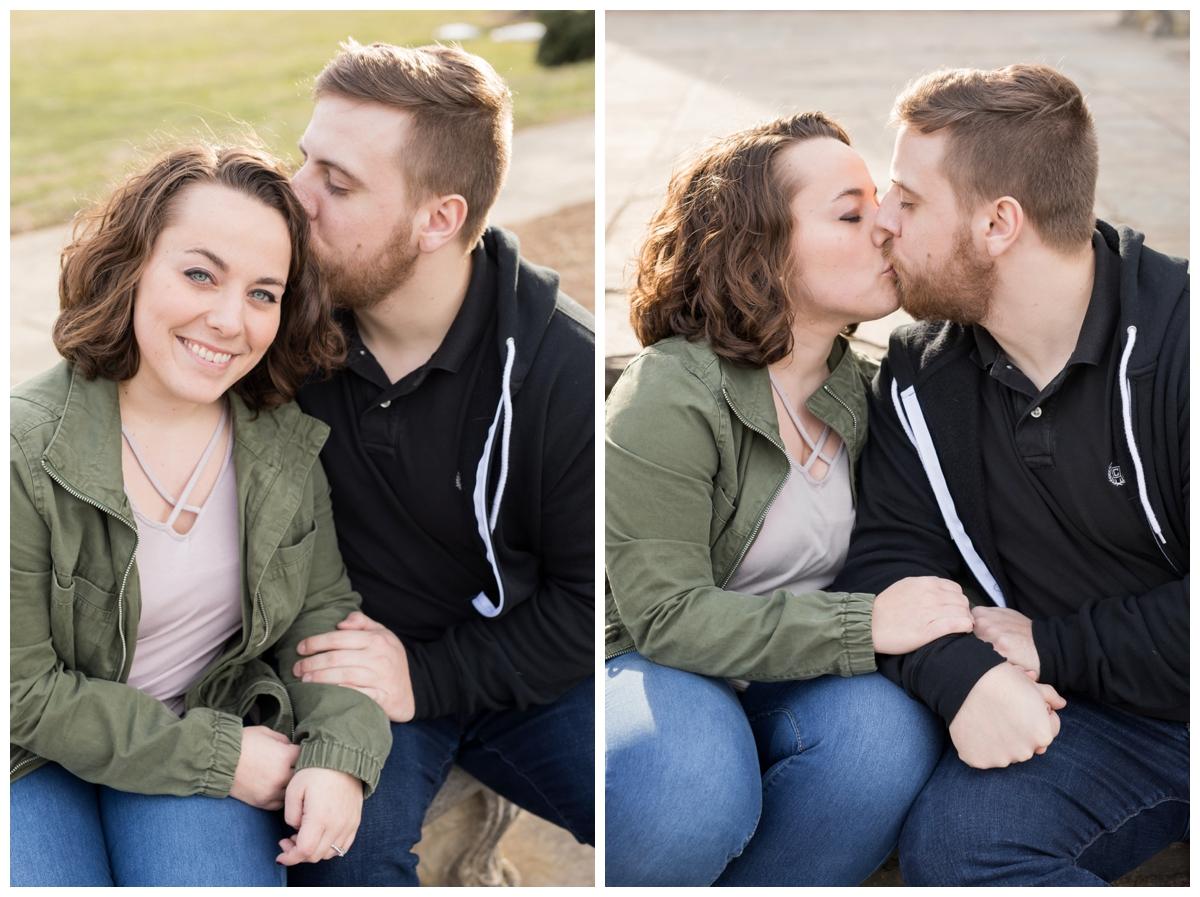 Engaged Couple with Disney Themed Frederick Maryland Engagement Photos