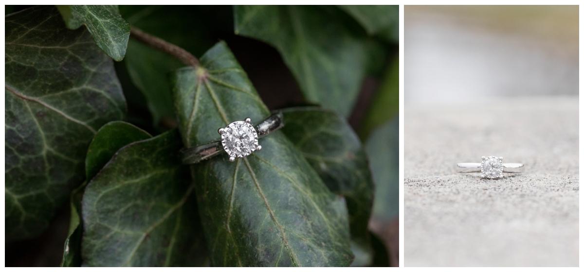 Engaged Couple with Corgi Disney Themed Frederick Maryland photos. Engagement ring photo.