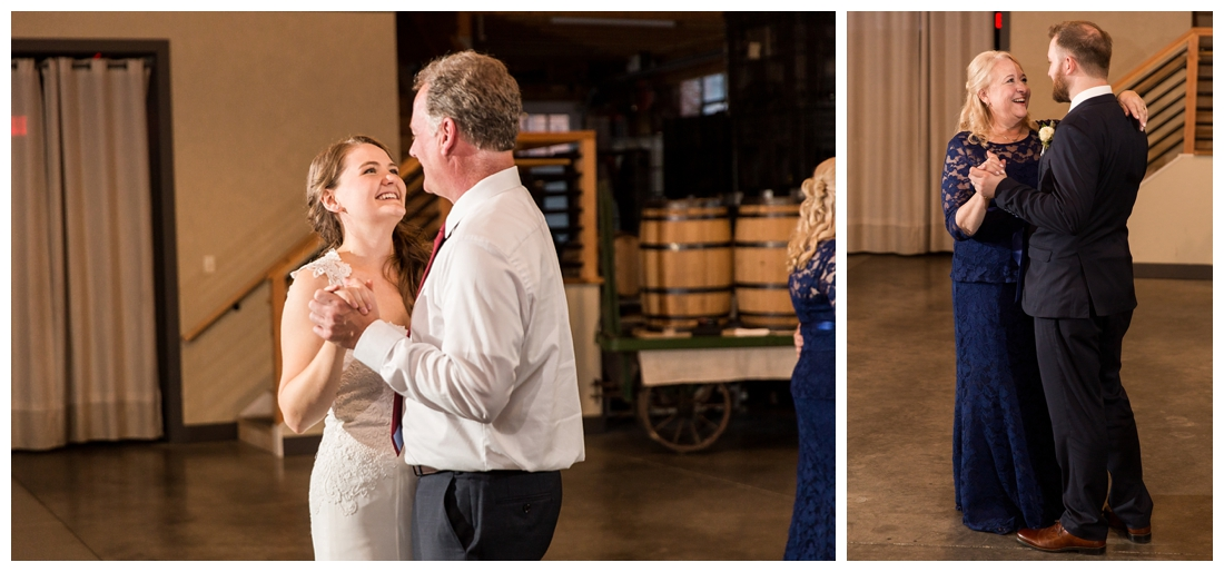 Frederick Maryland McClintlock Distillery Wedding. Frederick Wedding. Distillery Wedding. Cottage getting ready. Air bnb wedding day. Burgundy and Navy wedding color scheme. parent dances, shared parent dance.