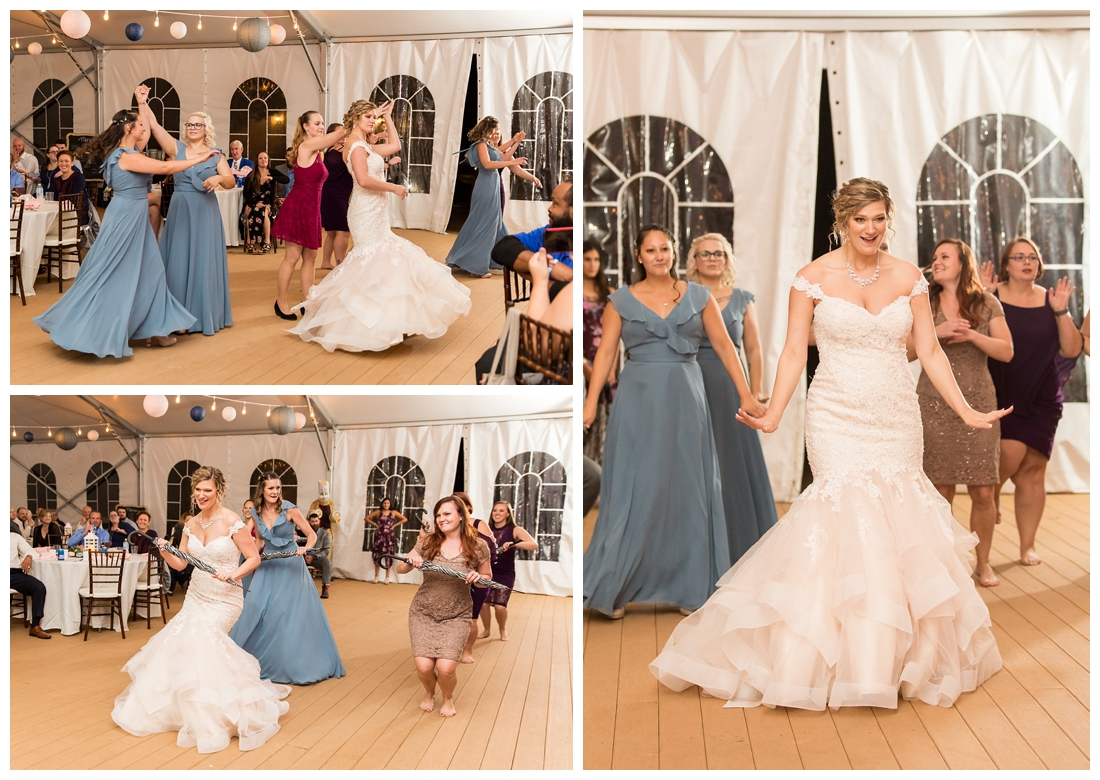 Fall wedding at The Royer House in Westminster Maryland. Cool fall day with dusty blue theme. Carroll County wedding. Cold Wedding day. Windy Wedding. Farm Wedding. Wedding flash mob, bride plans surprise dance for groom