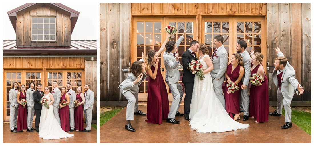 Vineyards of Marys Meadow Wedding in Darlington Maryland. Rainy fall wedding. Cold wedding day. Rainy wedding day. maryland wedding photographer. Barn wedding. Farm Wedding. bridal party portriats