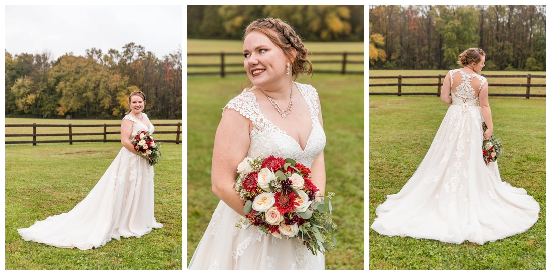 Vineyards of Marys Meadow Wedding in Darlington Maryland. Rainy fall wedding. Cold wedding day. Rainy wedding day. maryland wedding photographer. Barn wedding. Farm Wedding. bridal portraits. Photos of the bride.