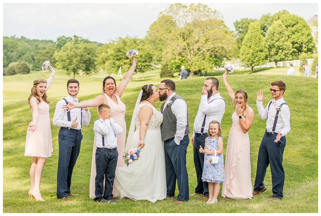 Links at Challedon Golf Course Wedding. Maryland Wedding Photographer. Frederick Wedding. Carroll County Wedding. Love it at Stellas. Indoor Ceremony. Little best man.