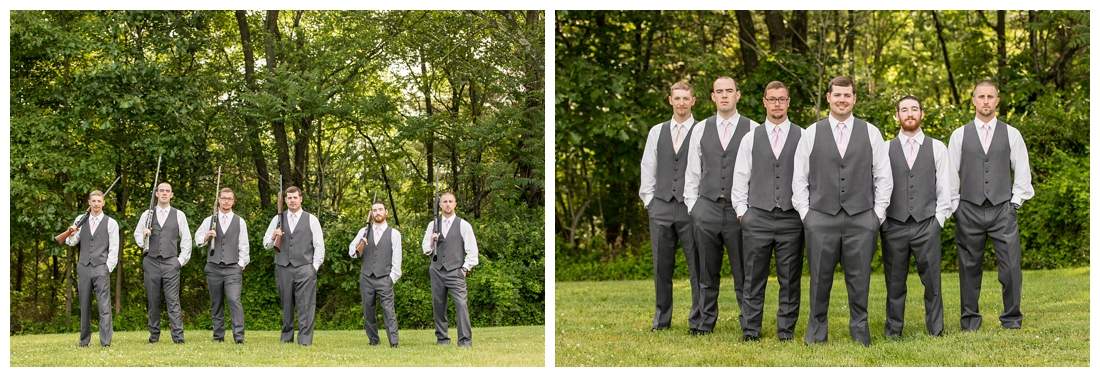 The Inn at Roops Mill Wedding. Westminster Wedding. Maryland Wedding. Lace wedding drerss. blush wedding. horseshoes. shotgun. Crying groom. Carroll county wedding photographer.