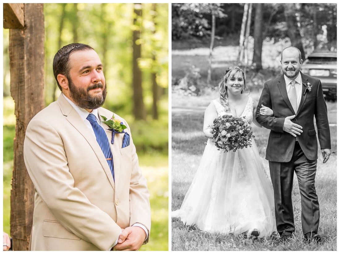 Ostertag Vista Spring Wedding. Frederick Maryland Wedding Photographer. Barn Wedding. Farm Wedding. Bright florals.