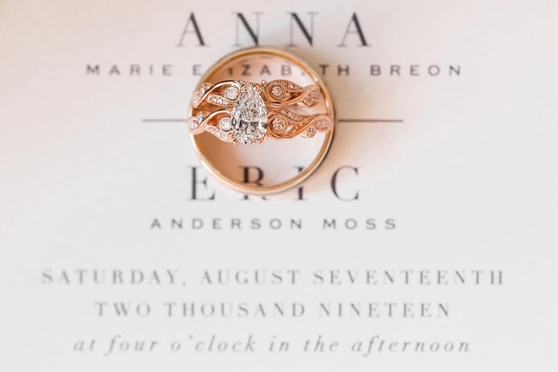 Antrim 1844 wedding. Summer wedding. 2019 couple. 2019 bride. Wedding Rings