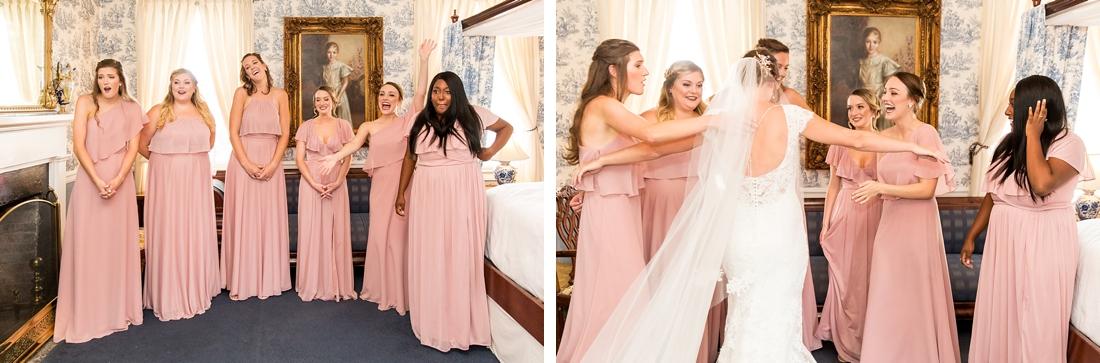 Antrim 1844 wedding. Summer wedding. 2019 couple. 2019 bride. bridesmaid first look