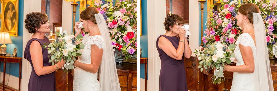 Antrim 1844 wedding. Summer wedding. 2019 couple. 2019 bride. mom first look