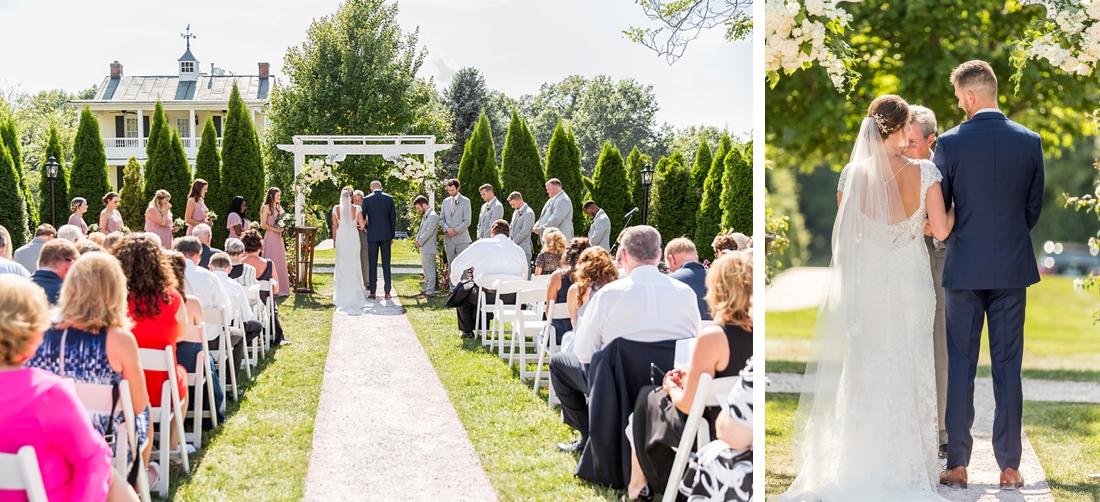 Antrim 1844 wedding. Summer wedding. 2019 couple. 2019 bride. wedding ceremony