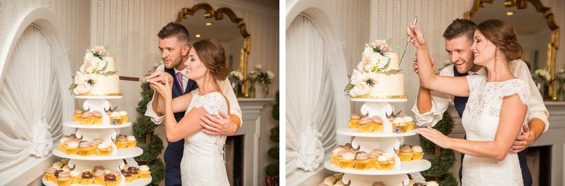 Antrim 1844 wedding. Summer wedding. 2019 couple. 2019 bride. wedding cake cutting