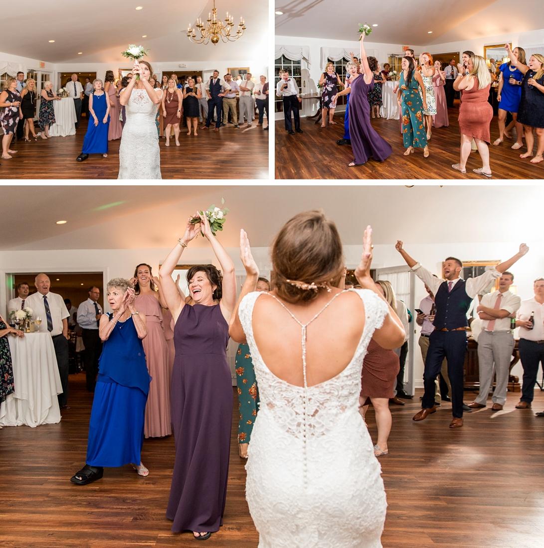 Antrim 1844 wedding. Summer wedding. 2019 couple. 2019 bride. bouquet toss