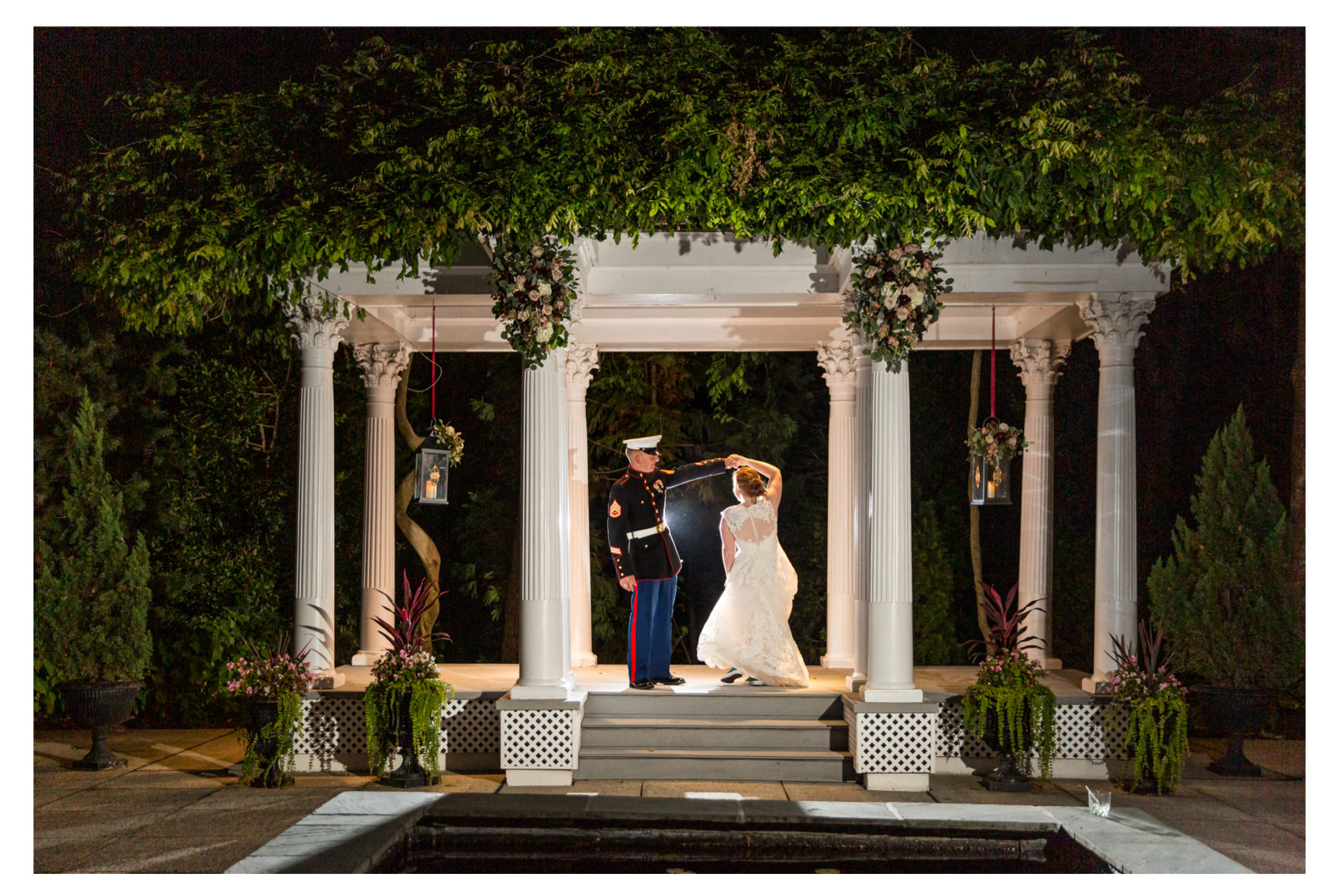 Frederick Wedding Photographer, Frederick Wedding, Ceresville Mansion Wedding, Fall Wedding, Burgundy Wedding, Outdoor Wedding, Military Wedding, Marine Wedding,  Night Photography