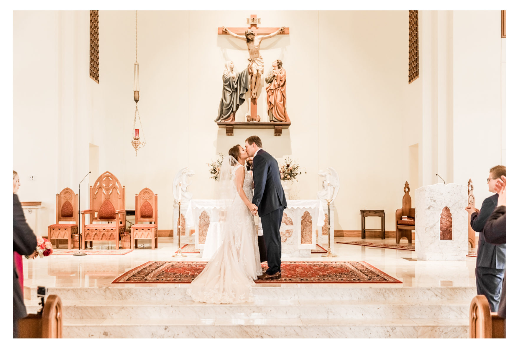 Fall Wedding. Catholic Wedding Ceremony. Westminster Maryland Wedding. Frederick Wedding Photographer.