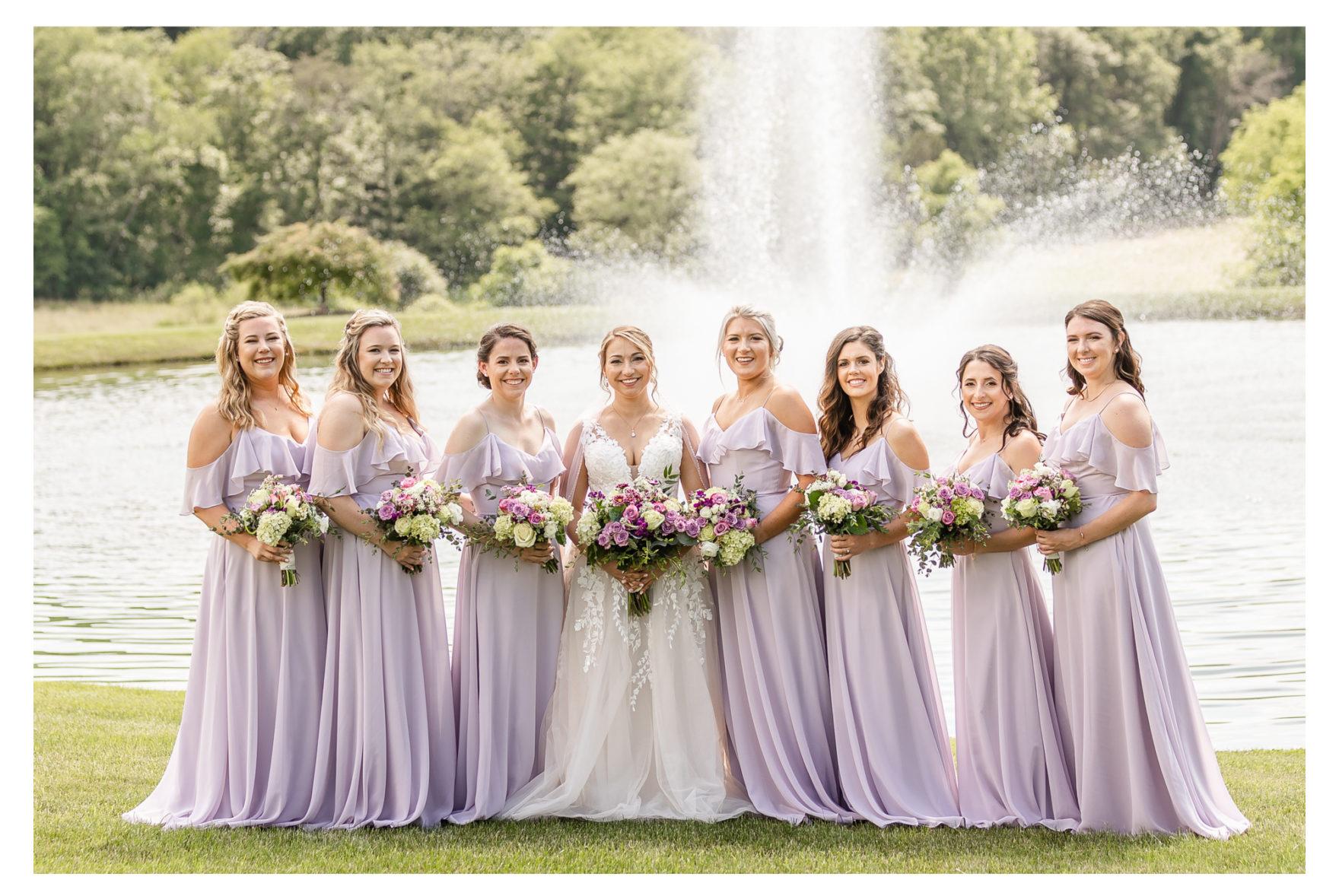bridesmaids Summer Wedding Stone Ridge Hollow June Wedding Lavender dresses