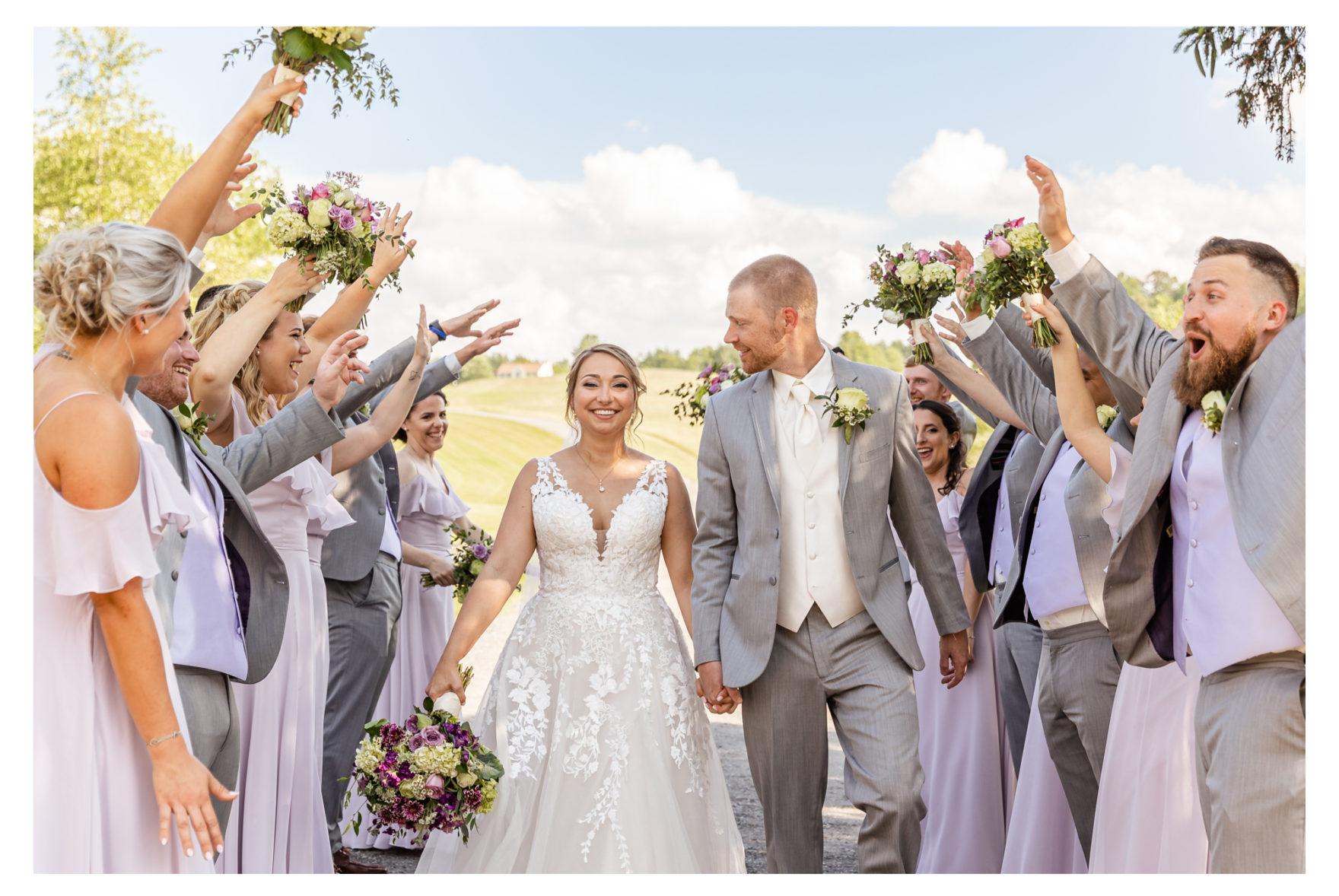 Summer Wedding Stone Ridge Hollow June Wedding Lavender dresses bridal party