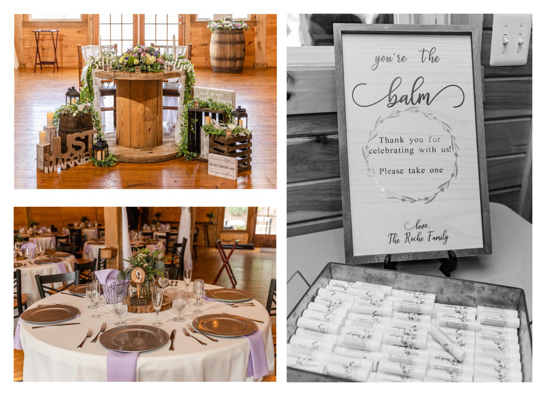 Summer Wedding Stone Ridge Hollow June Wedding Lavender dresses reception barn