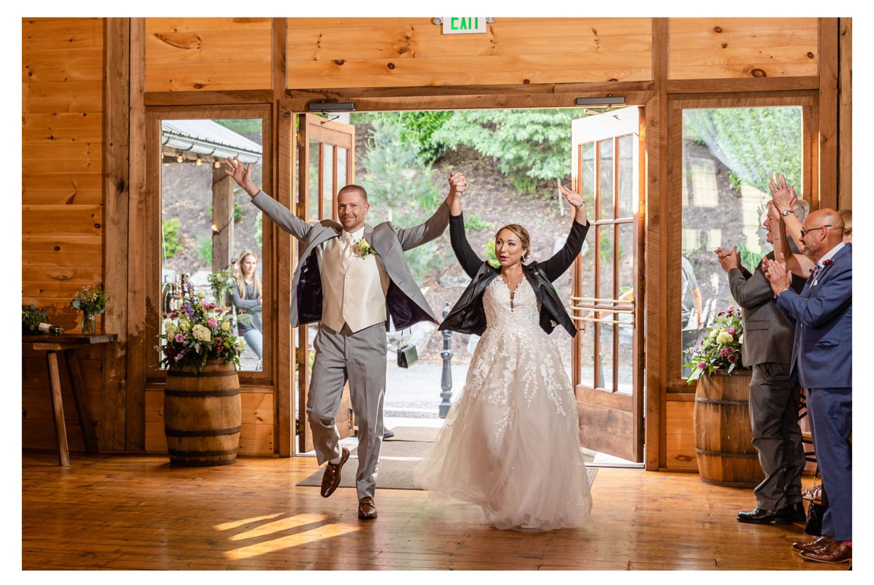 Summer Wedding Stone Ridge Hollow June Wedding Lavender dresses barn reception