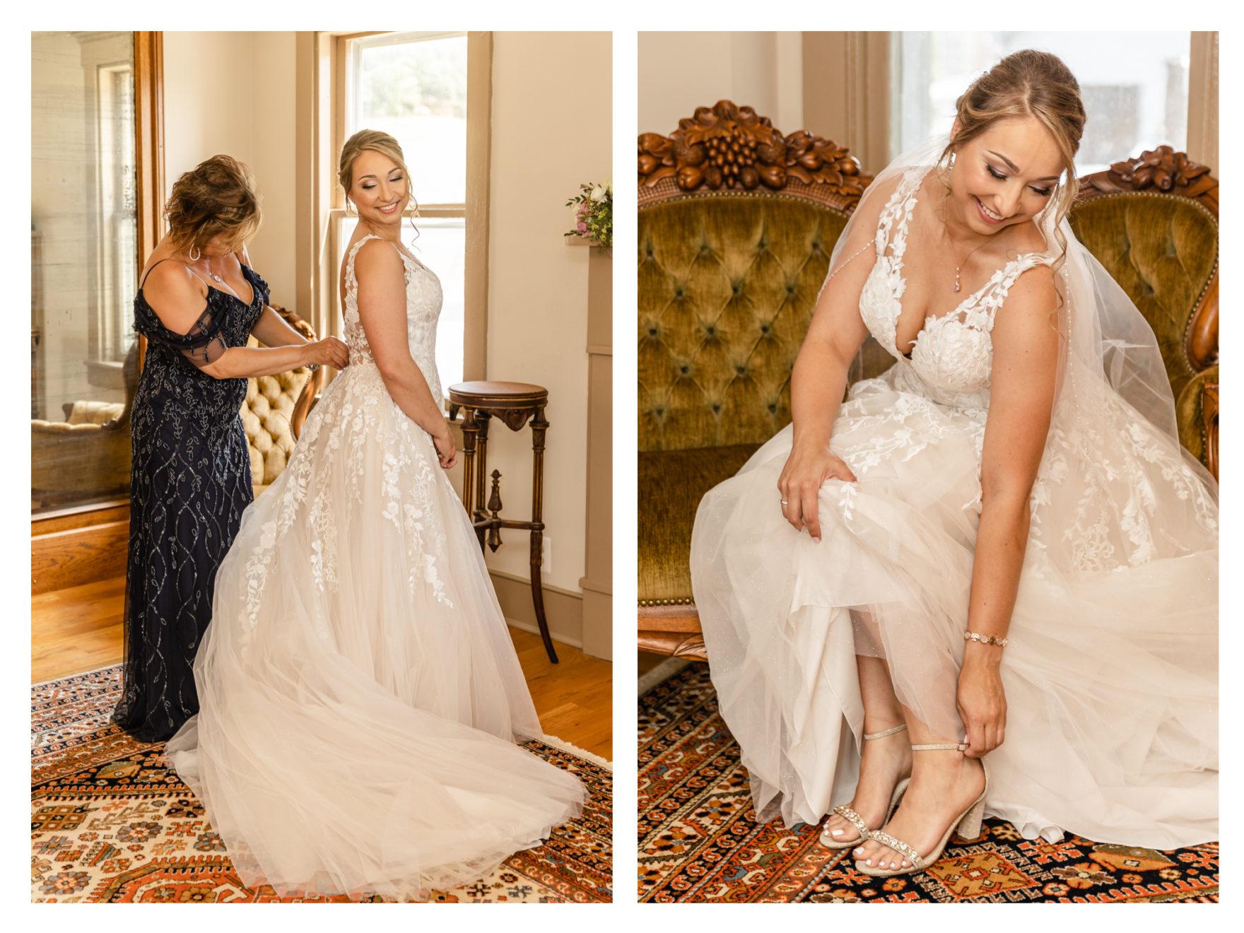 Summer Wedding Stone Ridge Hollow June Wedding Lavender dresses wedding dress