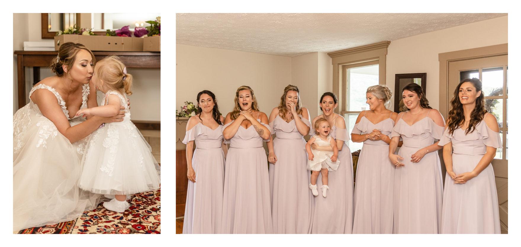 Summer Wedding Stone Ridge Hollow June Wedding Lavender dresses bridesmaids